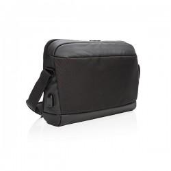 """Madrid RFID USB 15.6"""" laptop bag PVC free, black"""