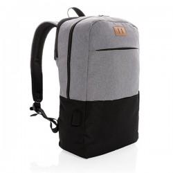"Modern 15.6"" USB & RFID laptop backpack PVC free, black"