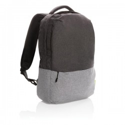 """Duo color RPET 15.6"""" RFID laptop backpack PVC free, grey"""