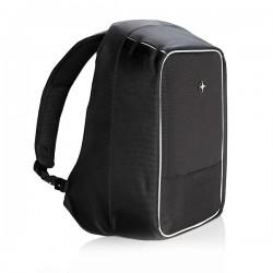 "Swiss Peak anti-theft 15.6"" laptop backpack, black"
