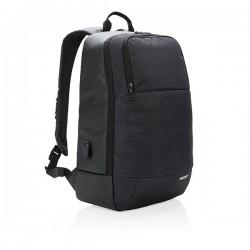 """Modern 15"""" laptop backpack, black"""