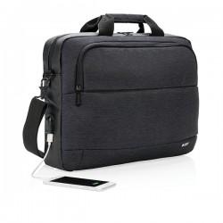 """Modern 15"""" laptop bag, black"""