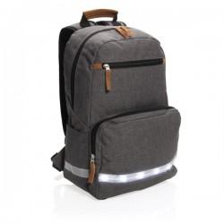 "LED light 13"" laptop backpack, grey"