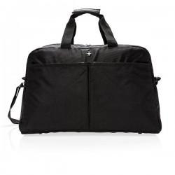 Swiss Peak RFID duffle with suitcase opening, black