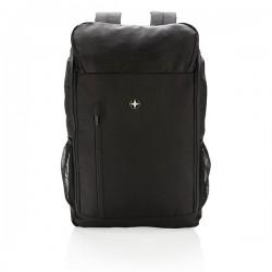 "Swiss Peak RFID easy access 15"" laptop backpack PVC free, bl"