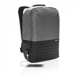 "Swiss Peak RFID anti-theft 15"" laptop backpack, grey"