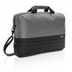 "Swiss Peak RFID 15.6"" laptop bag, grey"