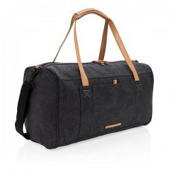 Canvas travel/weekend bag PVC free, black