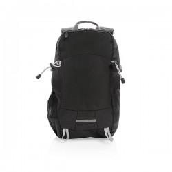 Outdoor RFID laptop backpack PVC free, black