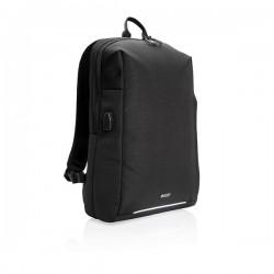 Swiss Peak RFID and USB laptop backpack PVC free, black
