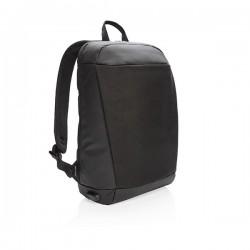 Madrid anti-theft RFID USB laptop backpack PVC free, black