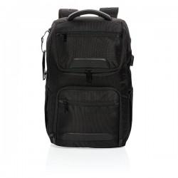 """Swiss Peak RPET Voyager USB & RFID 15.6""""laptop backpack, bla"""