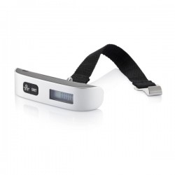 Electronic luggage scale, silver