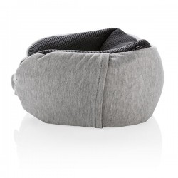 Deluxe microbead travel pillow, grey