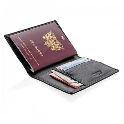 RFID anti-skimming passport holder, black