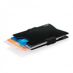 Aluminium RFID anti-skimming minimalist wallet, black
