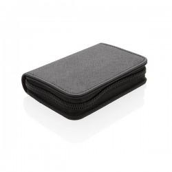 Swiss Peak secure RFID modern cardholder, black