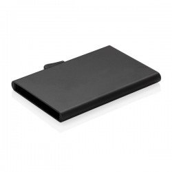 C-Secure aluminium RFID card holder, black
