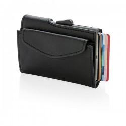 C-Secure RFID cardholder & coin/key wallet, black