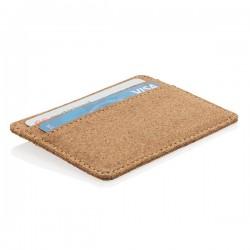 ECO cork secure RFID slim wallet, brown