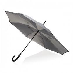 """23"""" manual reversible umbrella, grey"""