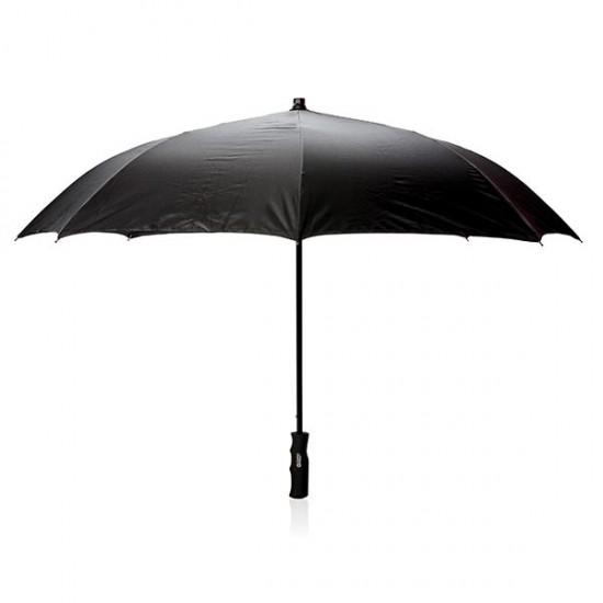"Swiss Peak 23"" auto open reversible umbrella, black"