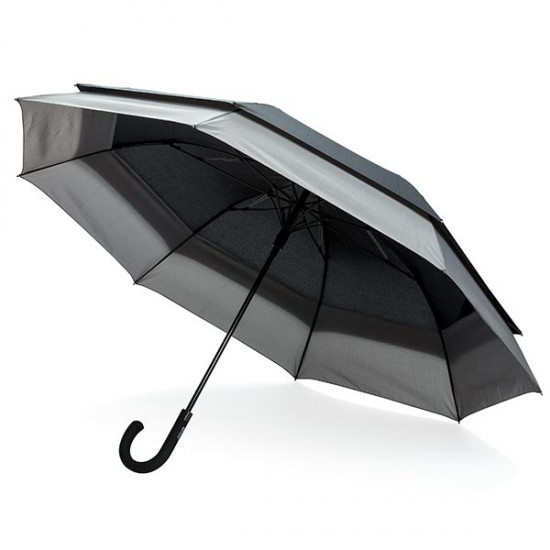 "Swiss Peak 23"" to 27"" expandable umbrella, black"