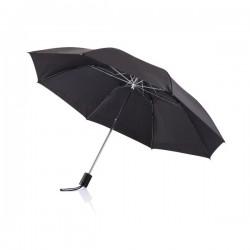 """Deluxe 20"""" foldable umbrella, black"""