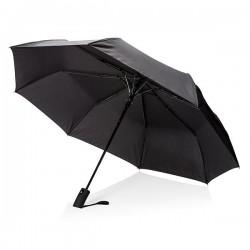 """Deluxe 21"""" foldable auto open umbrella, black"""