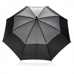 "27"" auto open duo colour storm proof umbrella, grey"