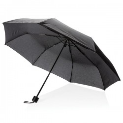 "21"" manual open umbrella with tote bag, black"
