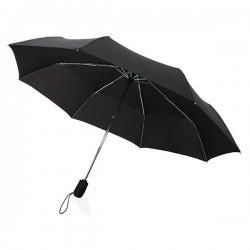 """Swiss peak Traveller 21"""" automatic umbrella, black"""