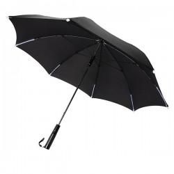 """23"""" manual open/close  LED umbrella, black"""